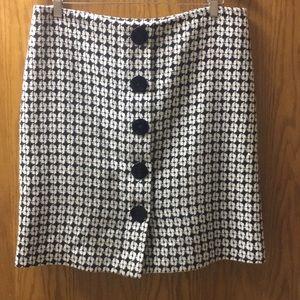 Isaac Mizrahi  Black & White Skirt Size 12!